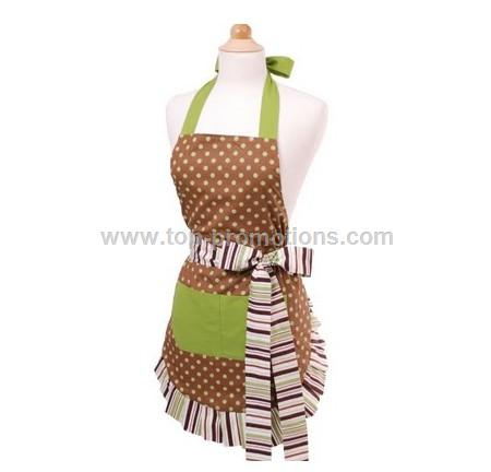 Women  Apron - Cocoa Lime