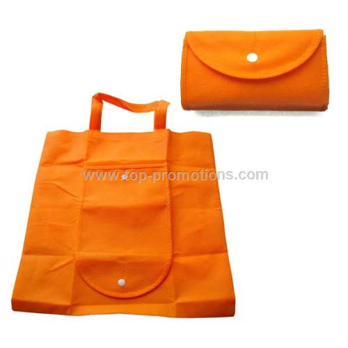 Folding nonwoven shopping bag