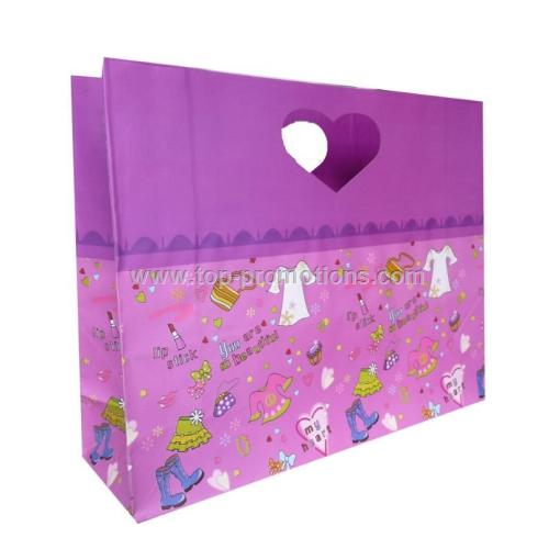 Die Cut Heart Shape Handle Paper Gift Bags