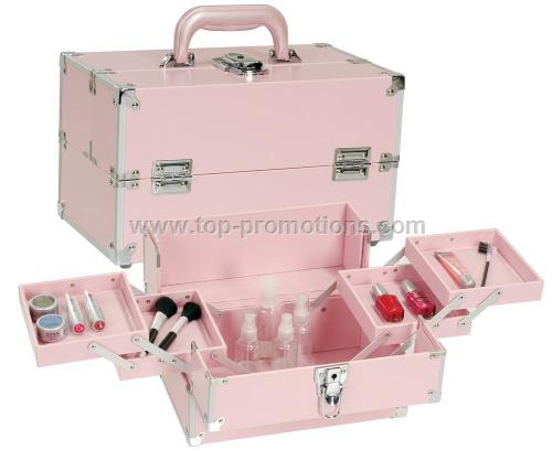 Pink Makeup Train Case