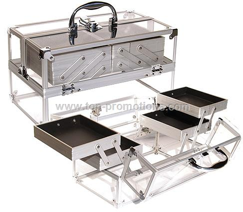 Clear Acrylic Cosmetic Case w/ Trays