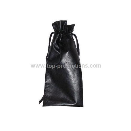Single Drawstring Wine Pouch