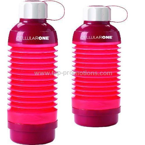 21oz COLLAPSIBLE WATER BOTTLE WITH PILL BOX