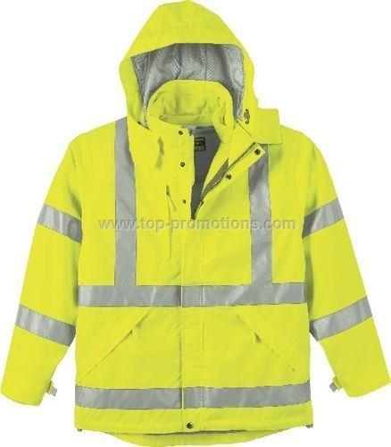Mens 3 In Safety Jacket With Fleece Liner