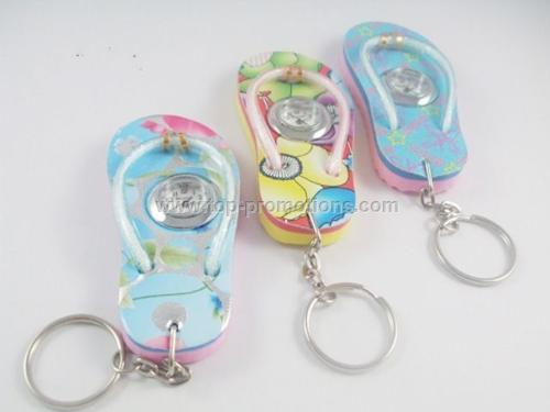 Slipper watch keychain