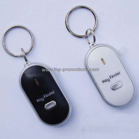 Whistle control key finder with keyring
