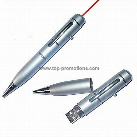 USB Flash Memory Pen With Laser pointer