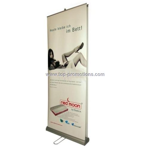 Double roll up Roll banner