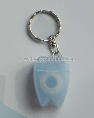 Tooth Dental Floss Keychain