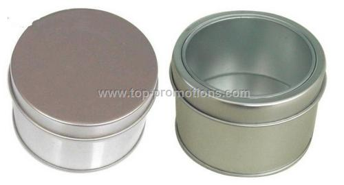 Products Name: Small Round Tin Box with or without