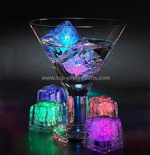 Lighted up Reusable ice cubes