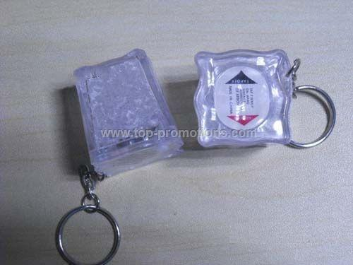 Ice cube keychain with light