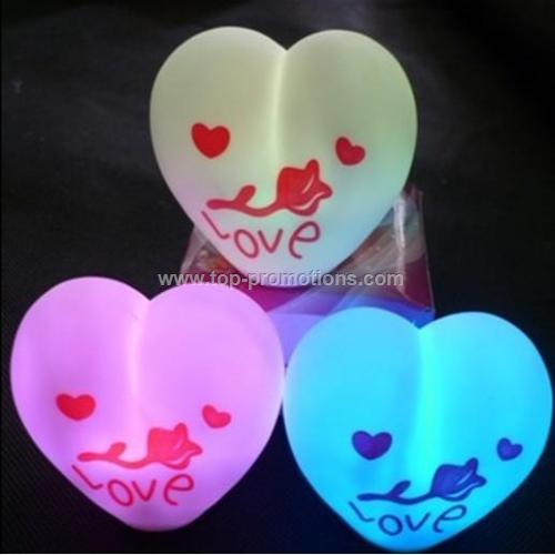 led heart ball with logo love