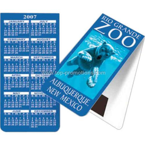 Bookmark magnet with calendar