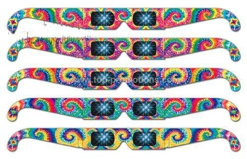 Fireworks Glasses - Preprinted Rainbow Tie Dye