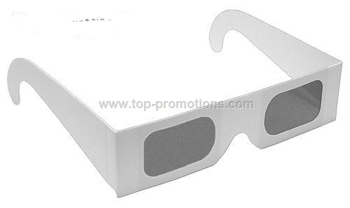 Polarized 3D Glasses - White Frame