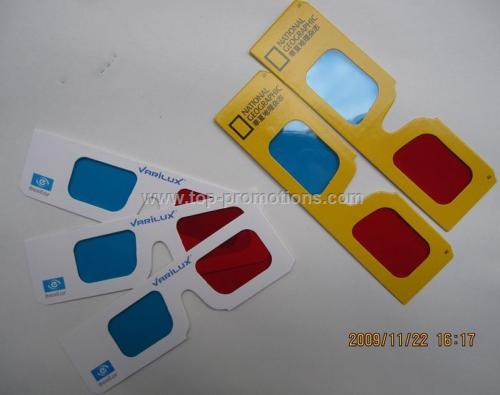 Custom Paper Anaglyph 3D Red Blue Glasses