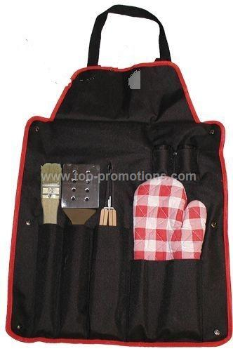 BBQ Set with Apron w brush