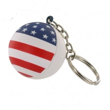 Patriotic Stress Ball Key Chain Squeeze Toy