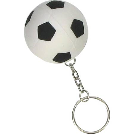 Soccer stress ball keyring