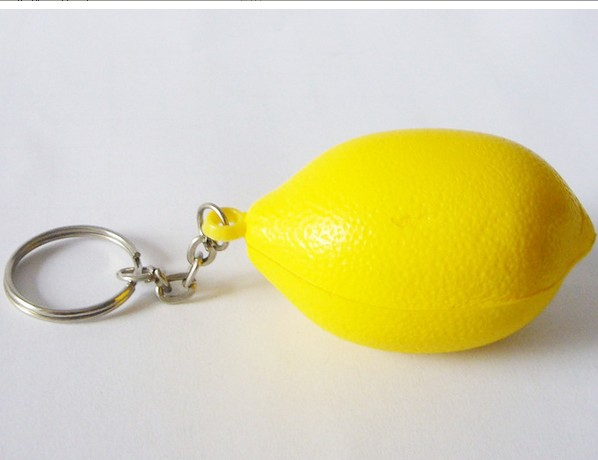 Lime Stress Ball Keychain