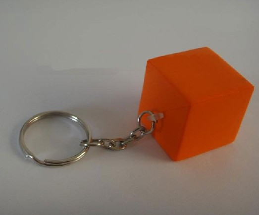 Cuboid keychain Stress ball