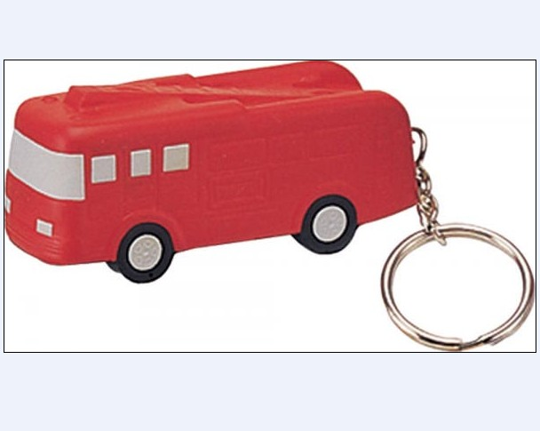 Fire Truck Key Chain Stress Reliever