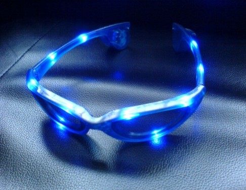 BLUE LED FLASHING GLASSES