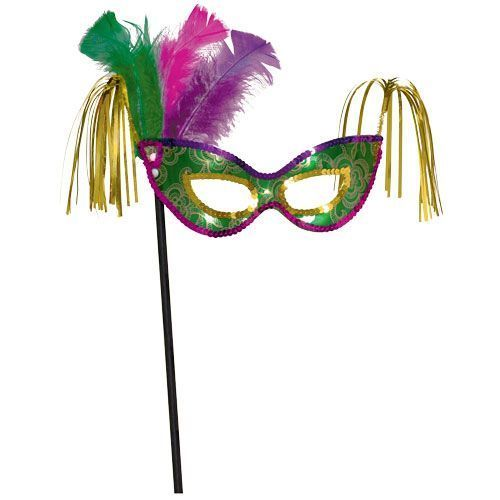 Mardi Gras Mask with Stick