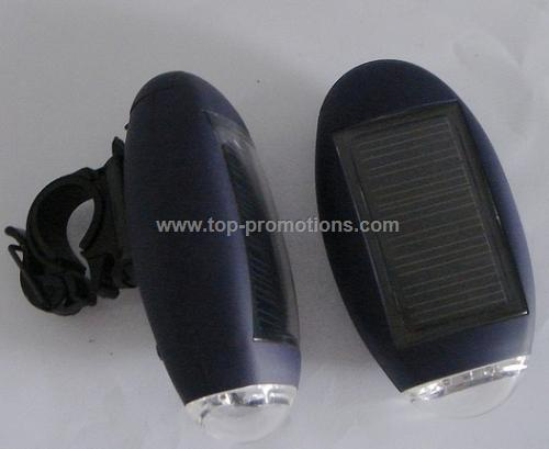 Solar Flashlight for bike
