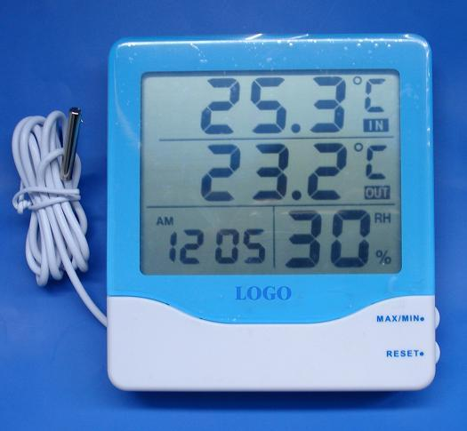 Outdoor Thermometer With Clock