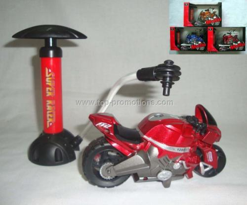 Inflatable motorcycle toy