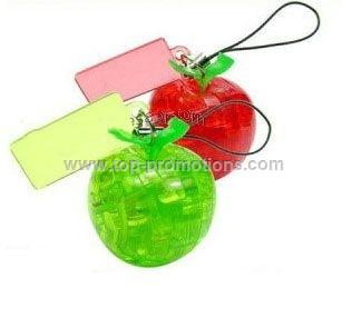 3D Apple Puzzle keychain