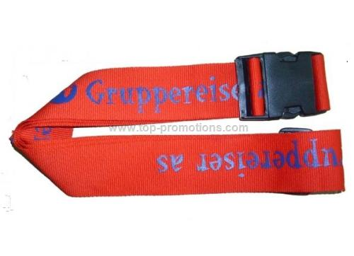 Luggage belt with lock
