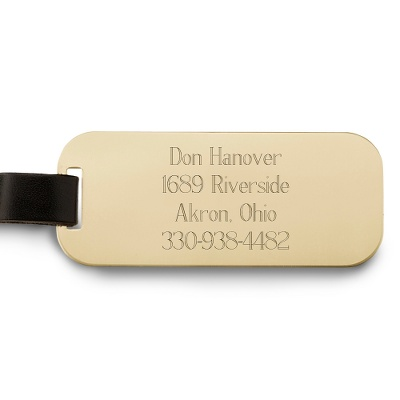Brass Luggage Tag by Things Remembered