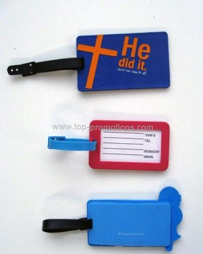 Soft silicon luggage tag