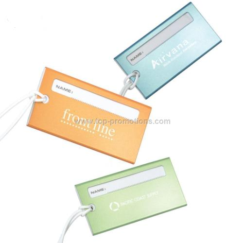 Metallic Aluminum Luggage Tag