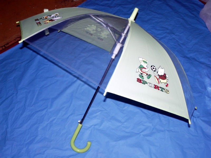 Straight automatic eva/pvc cartoon child umbrella