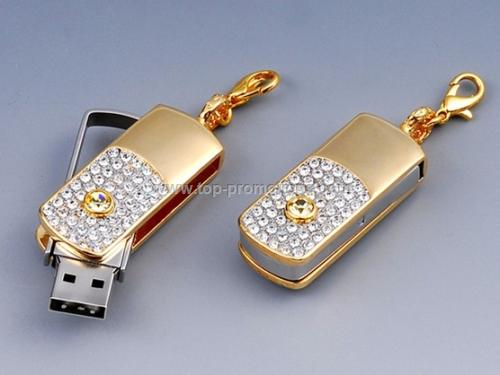 Jewellery swivel USB flash disk,Diamond USB drive,
