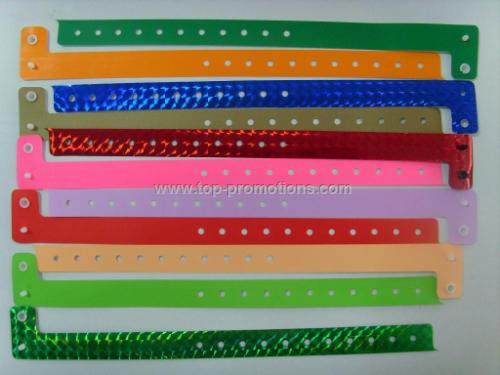 L-shape one time PVC wristband