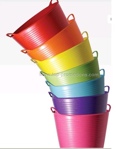 Colorful 25L Collect Buckets, Flexible Storage Tub