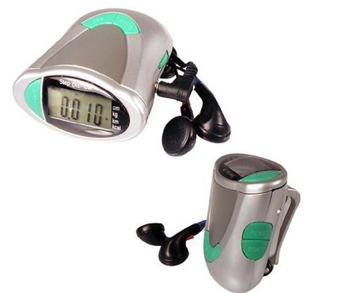 Pedometer Radio Work-Out Pedometer Radio