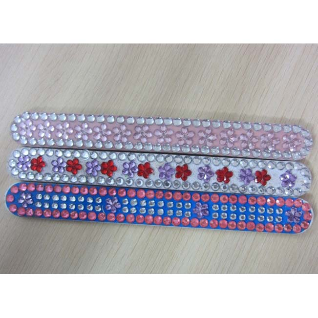 Nail file with crystal