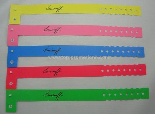L shape ID wristbands