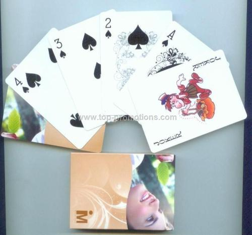 PVC playing card