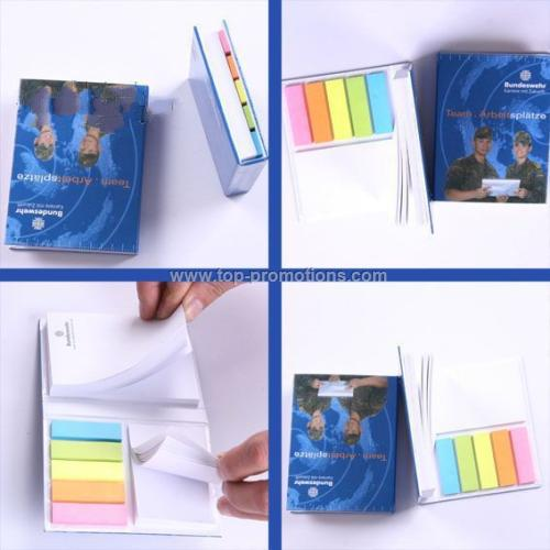 Note pad with page makers