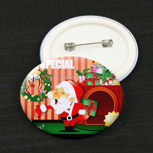 Christmas Promotional Gift Button Pin