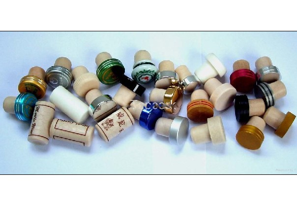 Synthetic cork and plastic