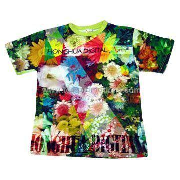 Digital Textile Printed T shirt