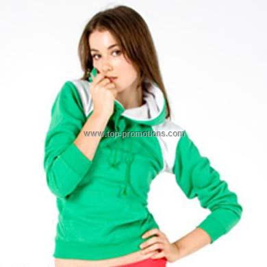 Junior And Ladies Contrast Shoulder Hoodie